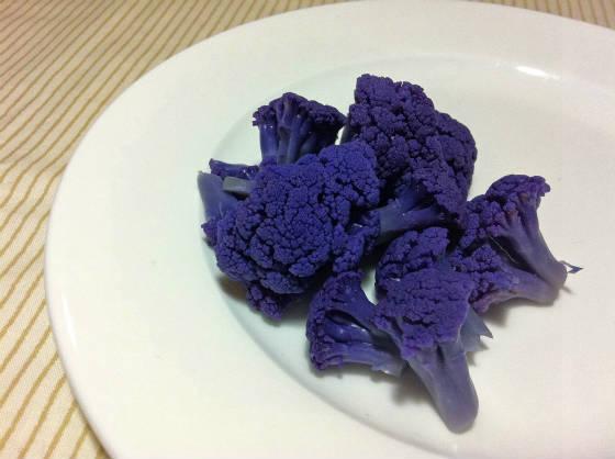 紫,カリフラワー