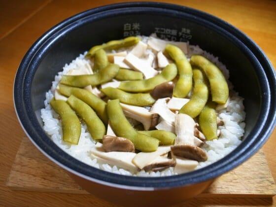 松茸ご飯のレシピ