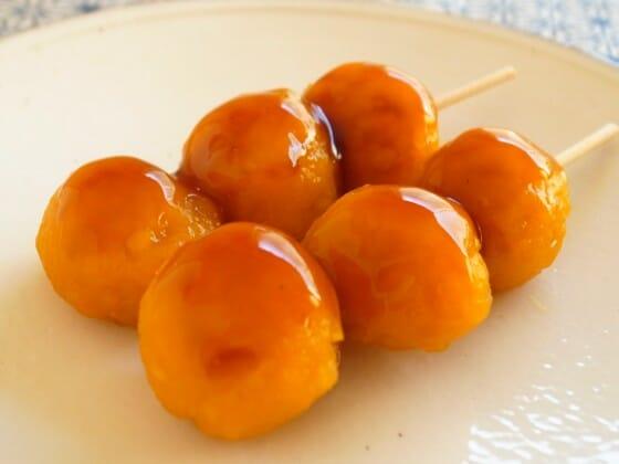 かぼちゃのみたらし団子のレシピ