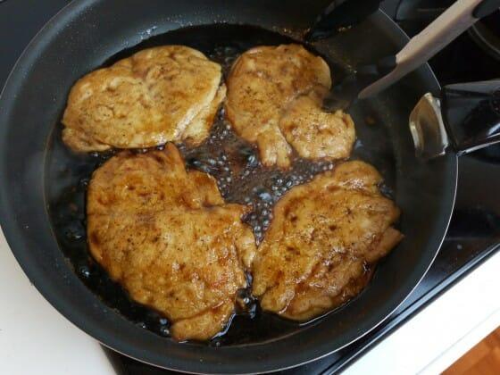 里田まい 鶏むね肉のソテー