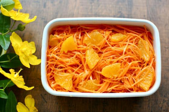 オレンジを加えたキャロットラペ