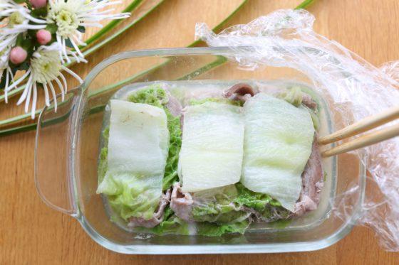 冷凍おかずの白菜ミルフィーユ
