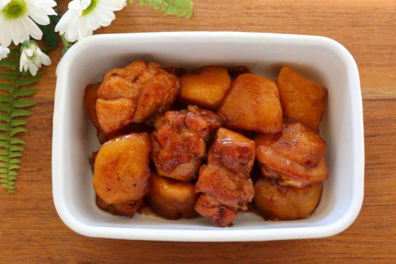 鶏肉とりんごのはちみつじょうゆ煮の作り置き