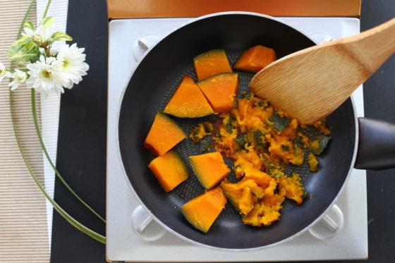かぼちゃの煮物のスープのレシピ