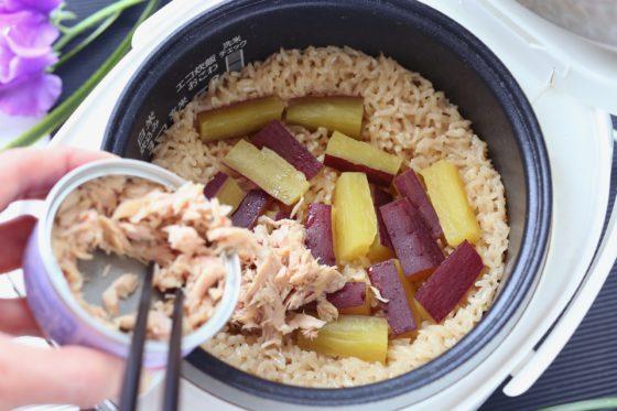 ツナの炊き込みご飯の作り方