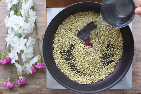 蕎麦の実の炊き方