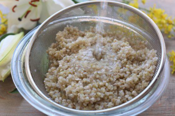 蕎麦の実の茹で方