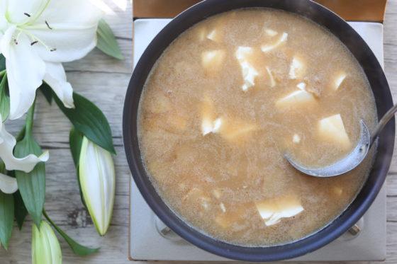 生姜の味噌汁のレシピ