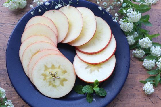 りんごの輪切り