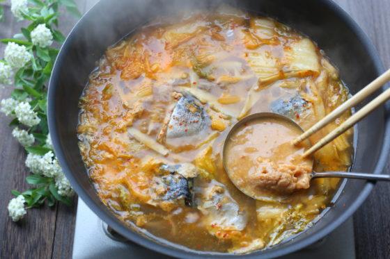 さば水煮缶の味噌汁のレシピ