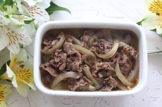 牛丼のお弁当レシピ