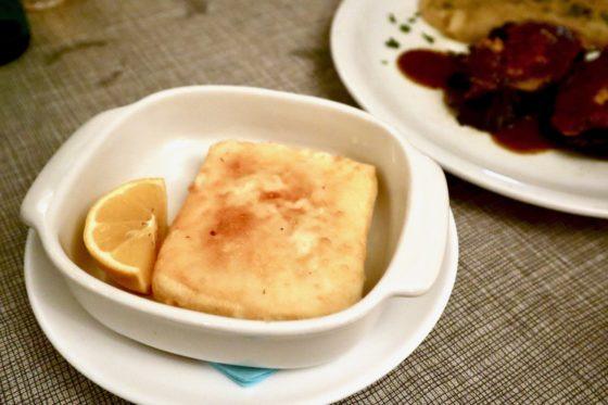 ギリシャ料理のサガナキ