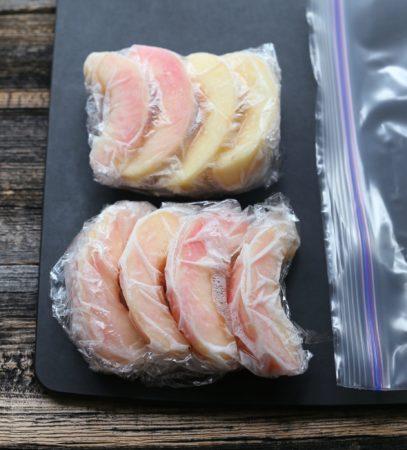 桃の冷凍保存