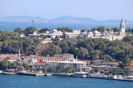 ガラタ塔から見たトプカプ宮殿