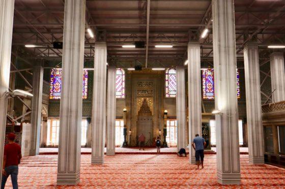 スルタン・アフメット・ジャミィに祈りの場
