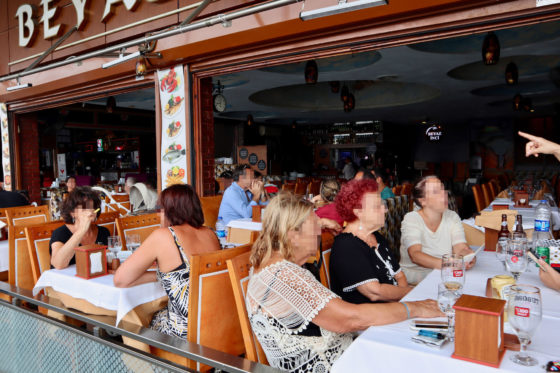 ガラタ橋のレストラン
