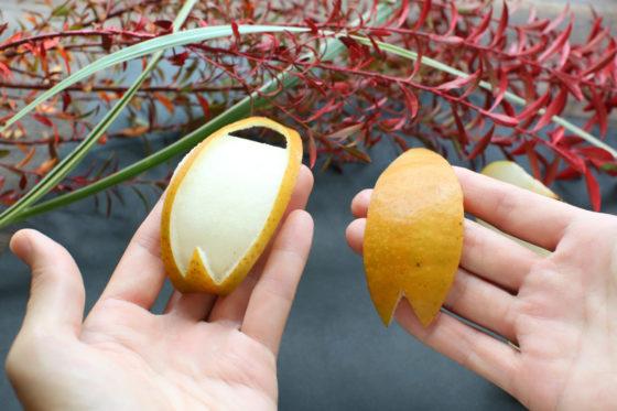 梨のおしゃれな飾り切り「桜」