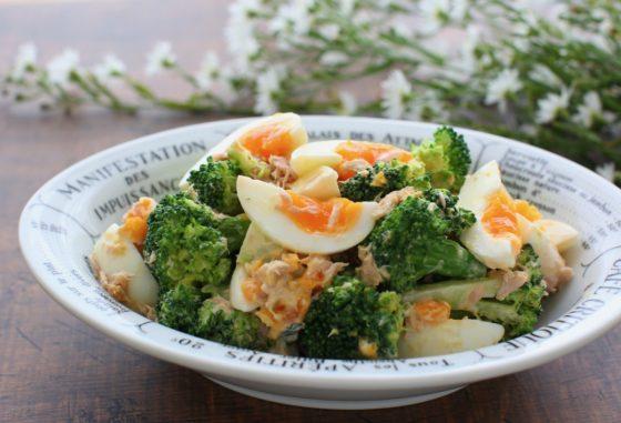 ゆで卵とブロッコリーのサラダのレシピ