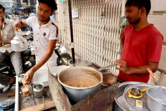 北インドのチャイの作り方