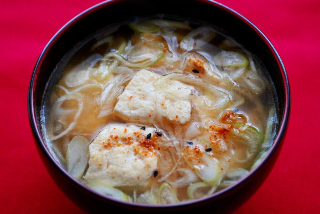 木綿豆腐の味噌汁
