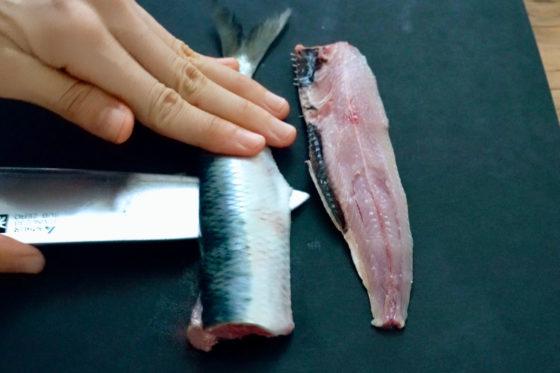 刺身の切り方(3枚おろし)