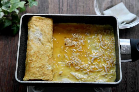 しらす卵を固める